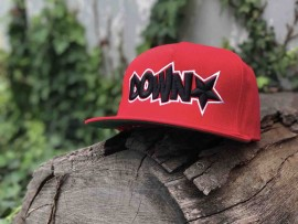 Downstar OG Logo 5 Panel Snap Back Red