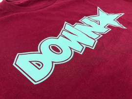 Downstar OG Logo Burgundy And Tiffany Tee