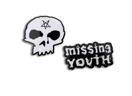 """Downstar Skate """"Missing Youth"""" Sticker Pack"""